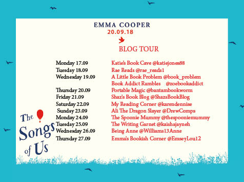 The Songs of Us Blog Tour Poster