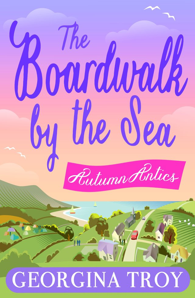 The Boardwalk by the Sea - Autumn Antics by Georgina Troy
