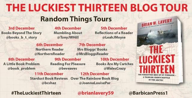 The Luckiest Thirteen Blog Tour poster