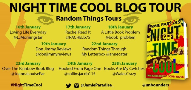 night time cool blog tour poster