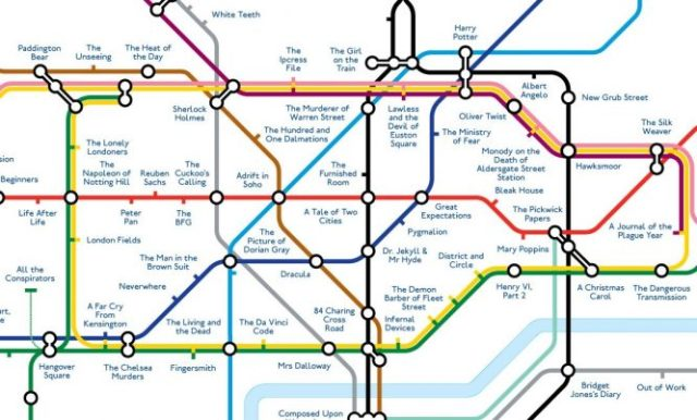 Literary Tube Map of London (@inthebookwith) #bookishthings ...