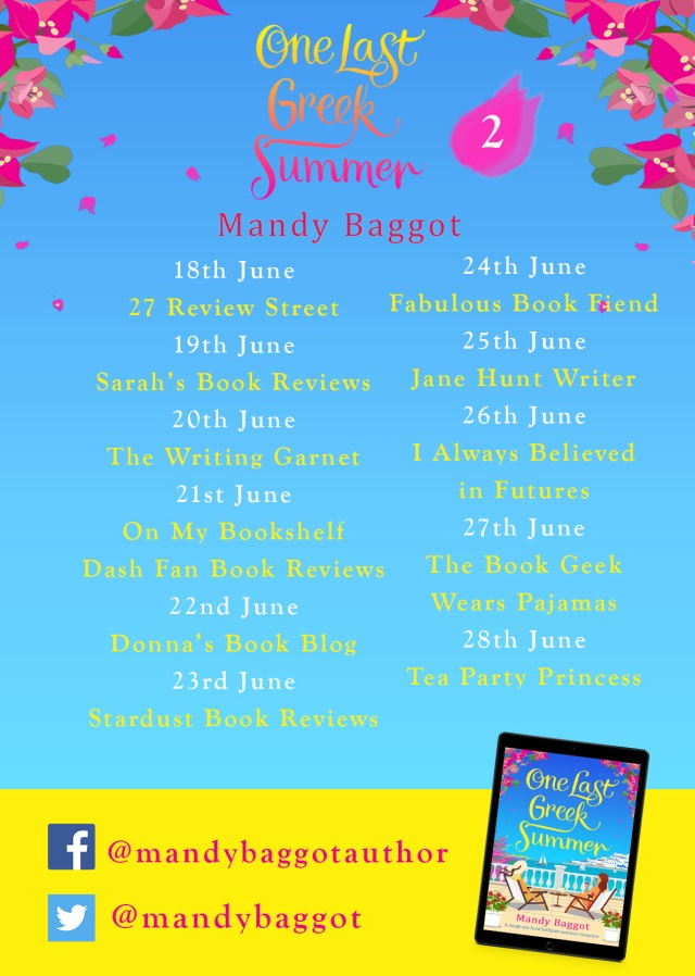 One Last Greek Summer Blog Tour Poster 2