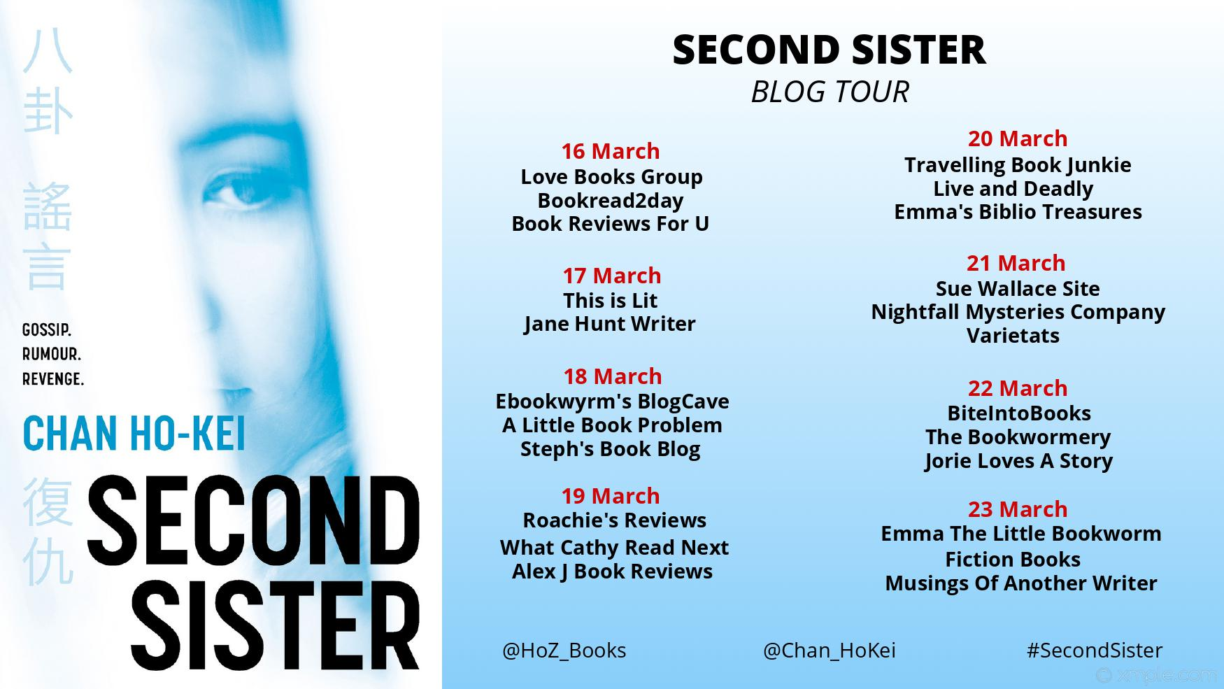 Second Sister Blog Tour Banner