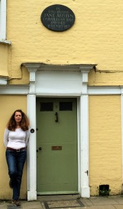ChristinaHoag at the home where Jane Austen died in Winchester, UK.