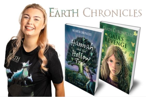 Hannah Logo and Books