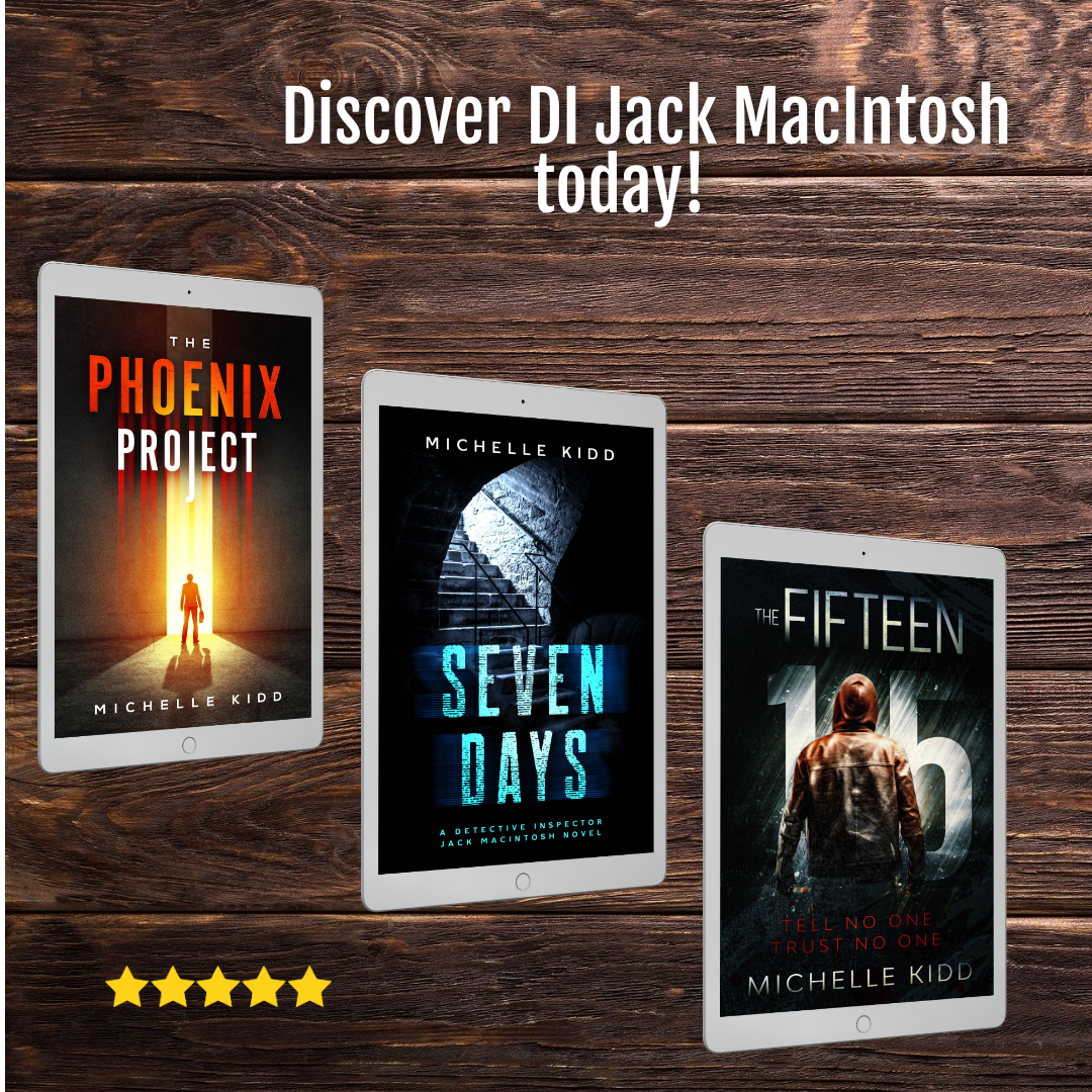 DI Jack MacIntosh books x 3 Instagram