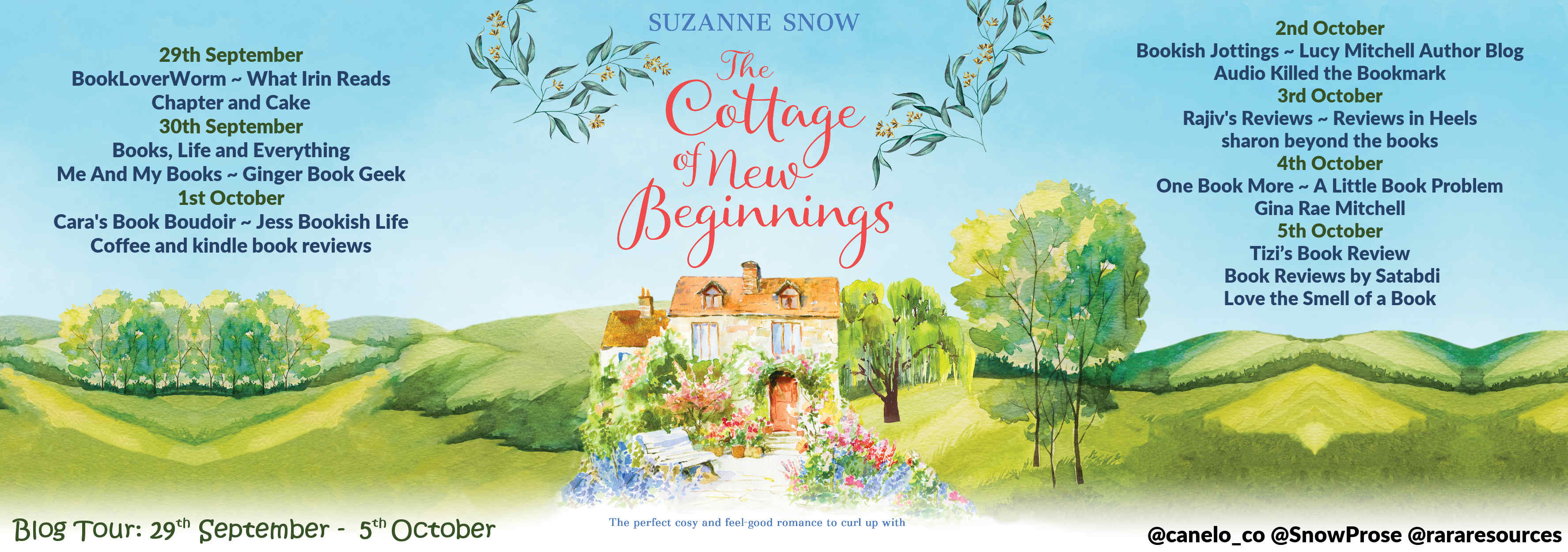 The Cottage of New Beginnings Full Tour Banner