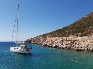 Swimming off the boat - Sifnos