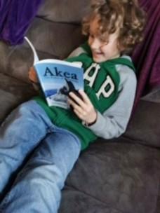 Boy reading A
