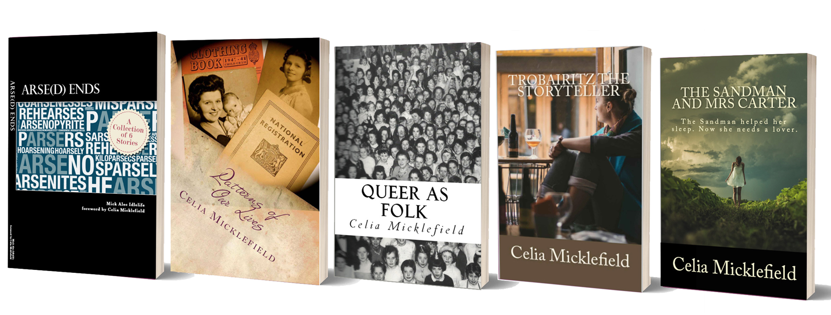 Celia's Books Standing Up