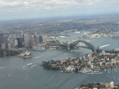 From a helicopter over Sydney