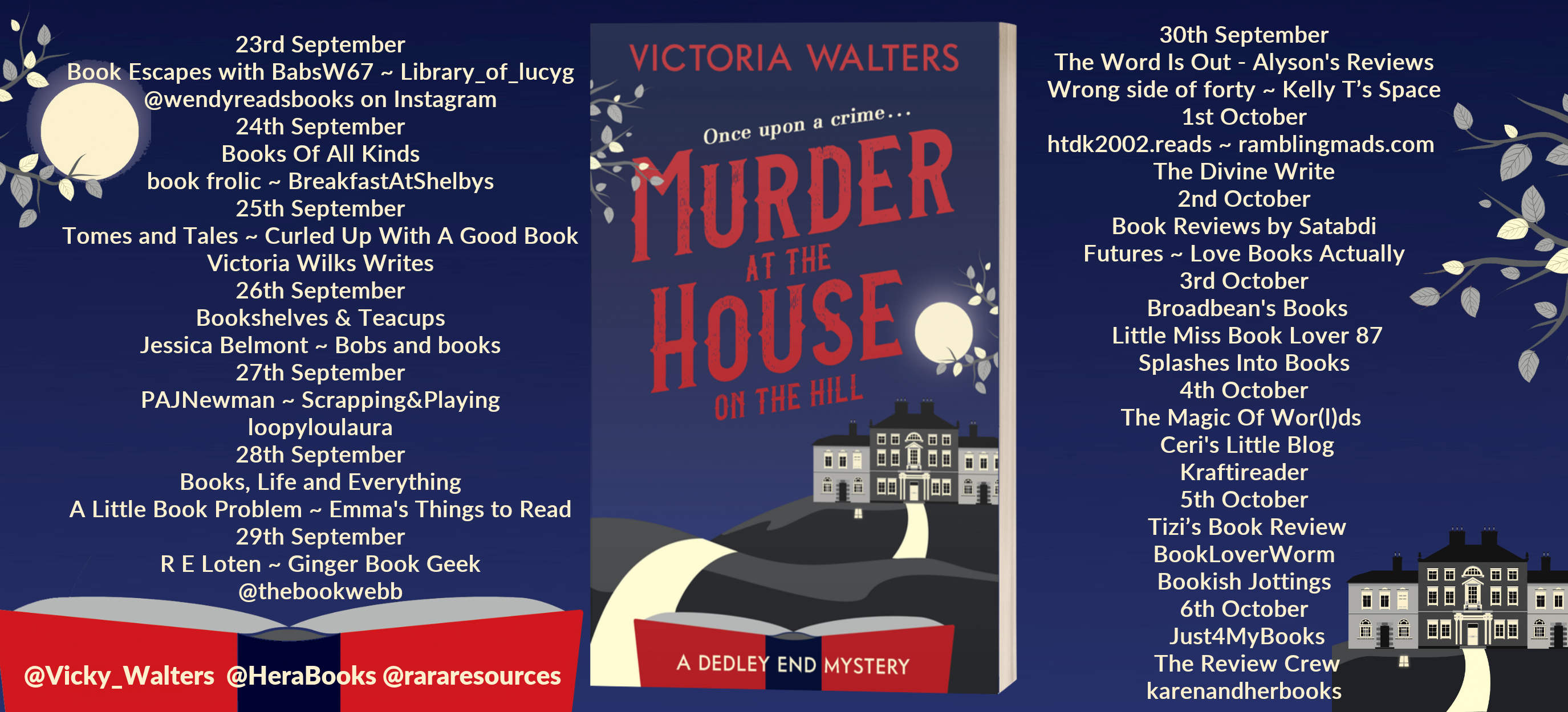 Murder At The House On The Hill Full Tour Banner